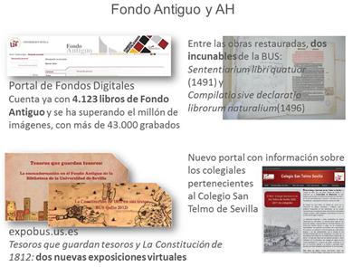 Datos destacados del Fondo Antiguo en Memoria 2012