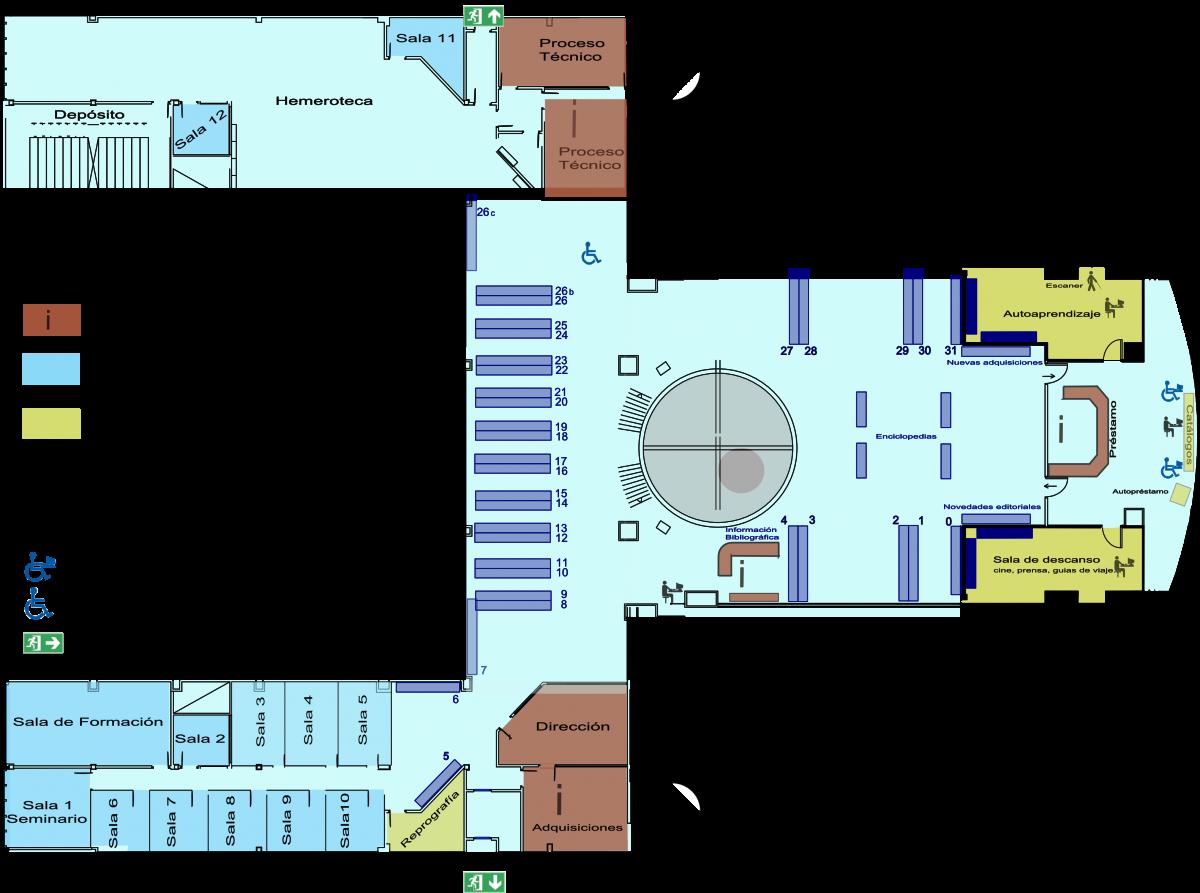 Planos biblioteca universidad de sevilla for Clasificacion de los planos arquitectonicos